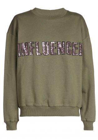 O'Rèn Sweater – INFLUENCER kaki paillet