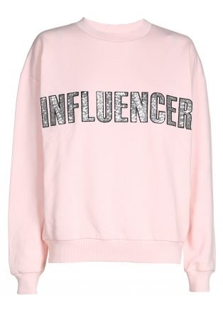 Sweater – INFLUENCER pink paillet