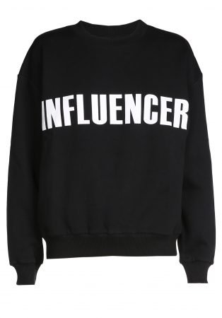 O'Rèn Sweater – INFLUENCER black print basic