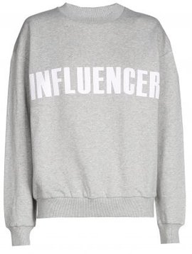 Sweater – INFLUENCER grey- basic