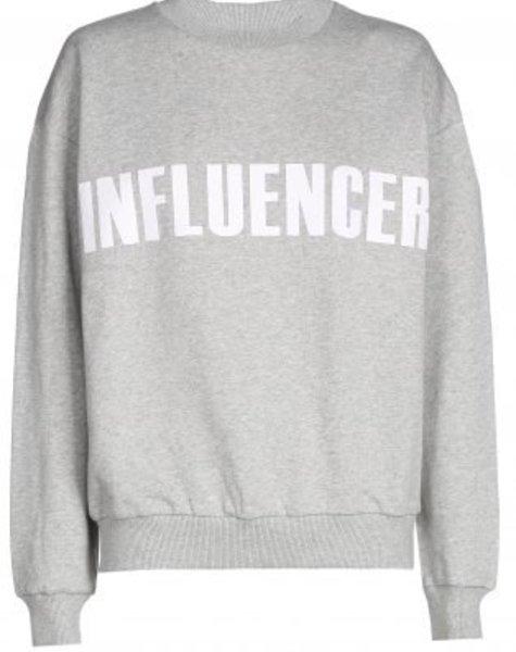 Sweater – INFLUENCER grey- basic
