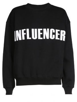 Sweater – INFLUENCER black print basic