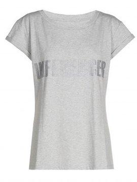 O'Rèn T-shirt– INFLUENCER grey print silver glitter
