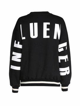 Sweater black - INFLUENCER on back