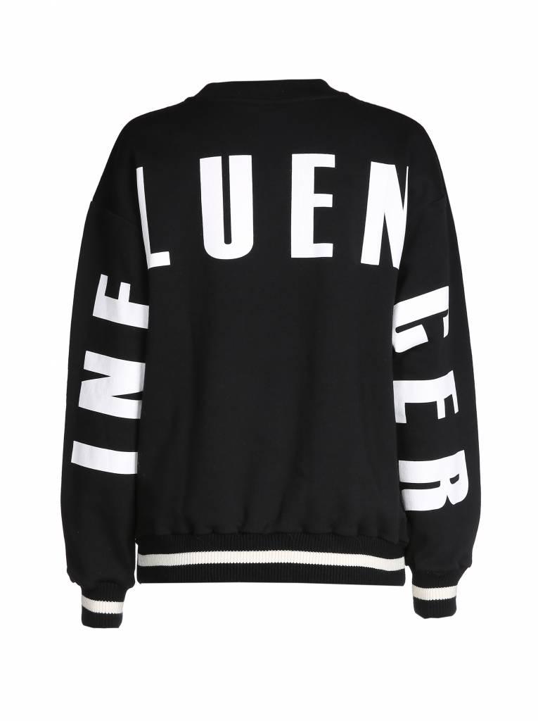 Sweater  black – INFLUENCER  on back