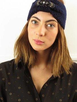 Amenapih Eileen haarband navy blauw