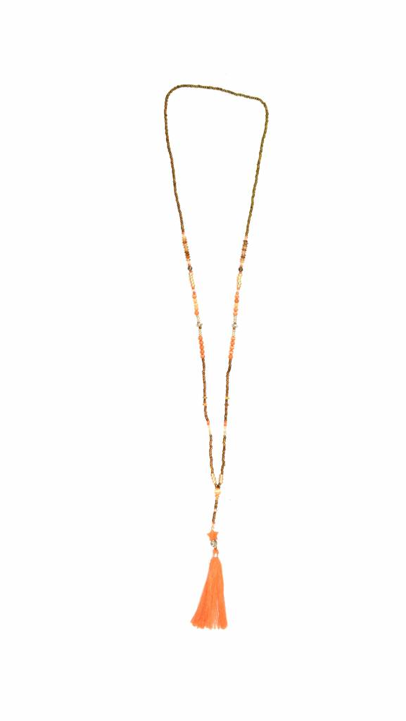 Necklace The tiny long necklace orange