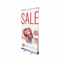 Roll up double sided 100x200