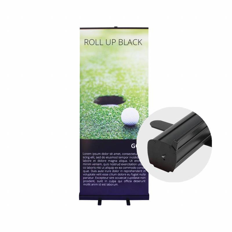 Günstig ein Roll Up Banner schwarz bestellen