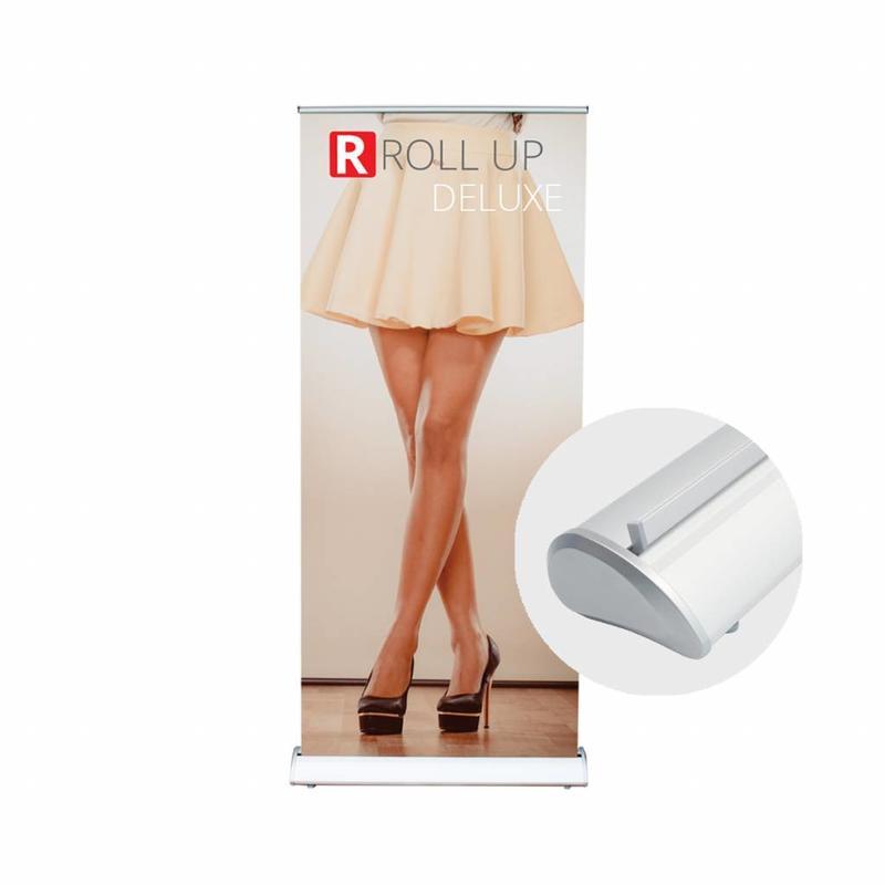 Ordinate un banner roll up deluxe ricco di stile.