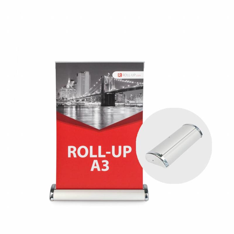 The roll up mini is an ideal eyecatcher on a small scale.