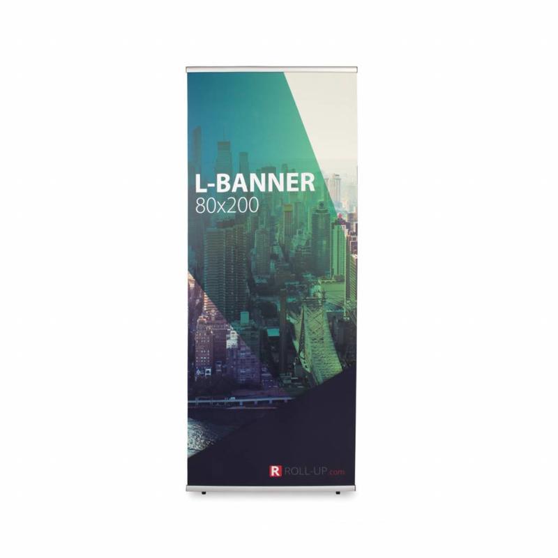 L-banner 80x200 cm