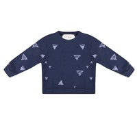 thumb-Little Indians Triangle Sweater Blauw-2