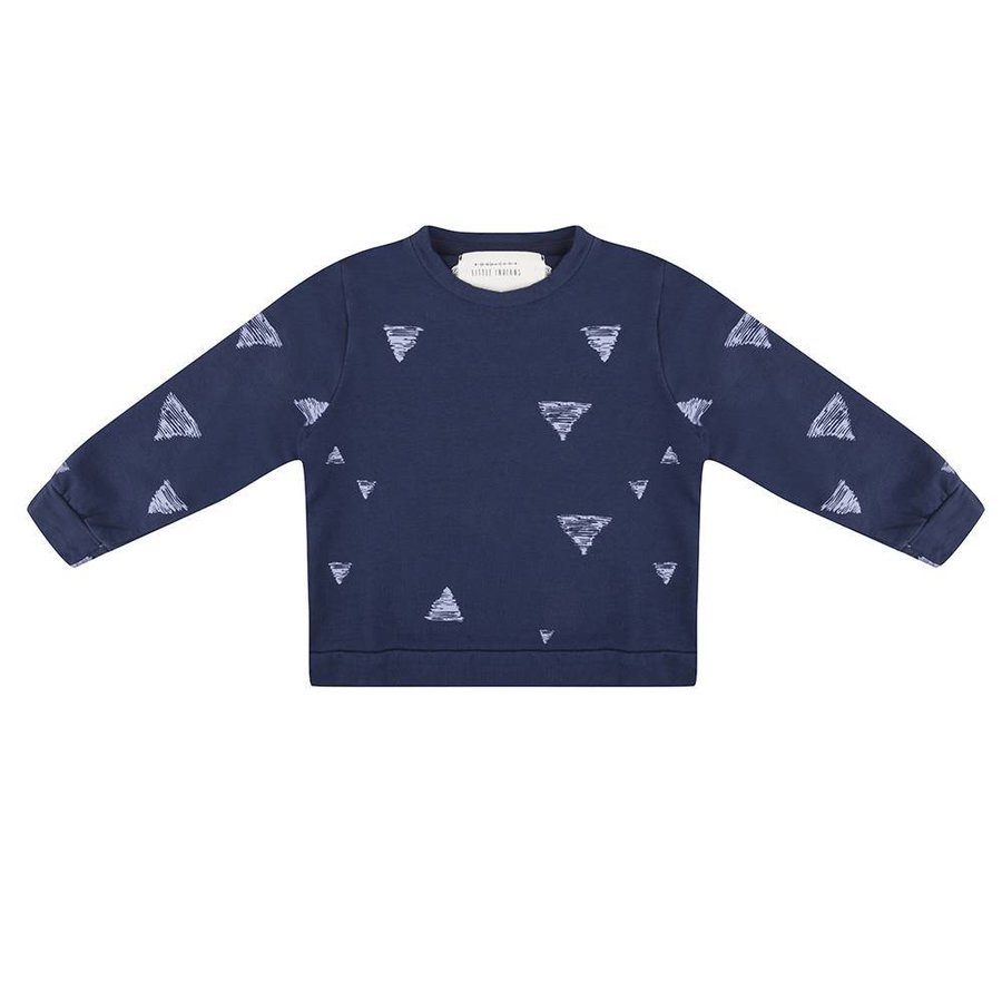 Little Indians Triangle Sweater Blauw