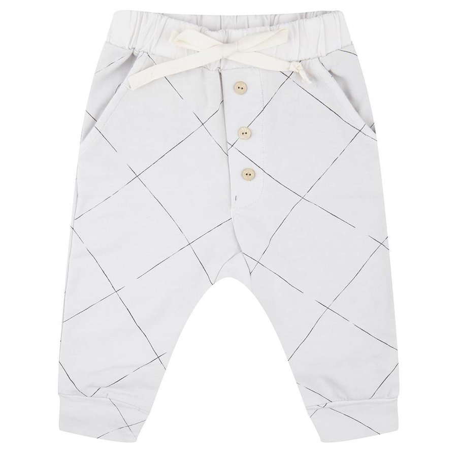 Little Indians Angled Grid Pants-1