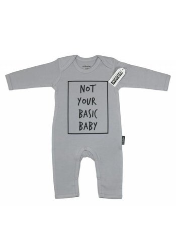 Cribstar Playsuit Not Your Basic Baby - lichtgrijs