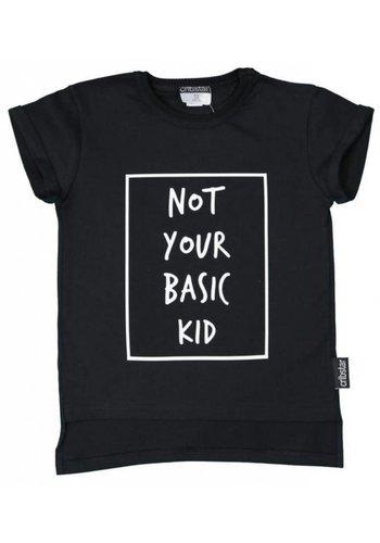 Cribstar T-shirt Not You Basic Kid zwart