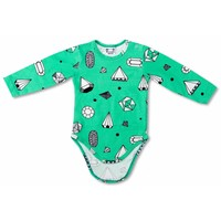 Raspberry Republic Romper Diamonds mintgroen