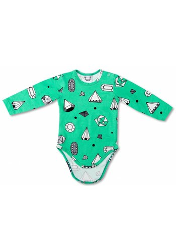Romper Diamonds mintgroen