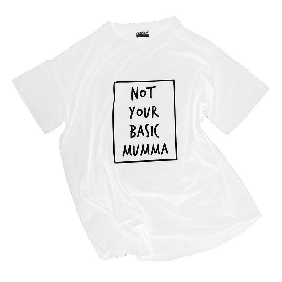 Cribstar T-shirt Not Your Basic Mumma - wit