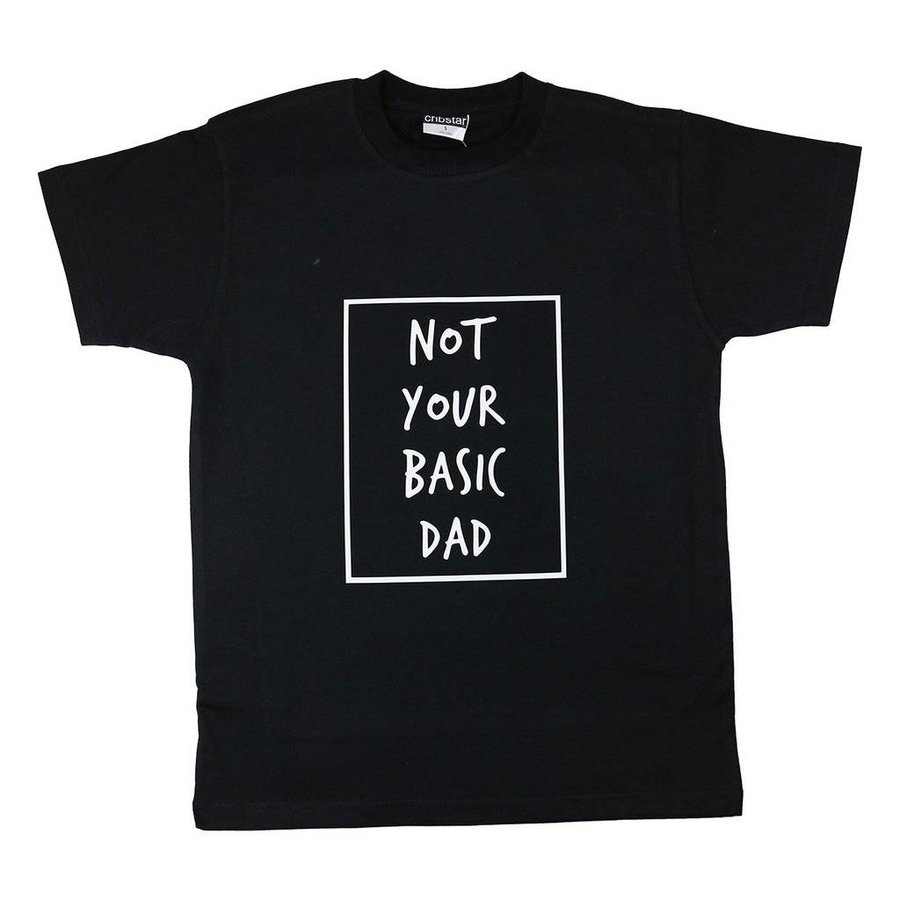 Cribstar T-shirt Not Your Basic Dad - zwart-1