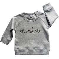 Organic Zoo Sweatshirt CHOCOLATE Grijs