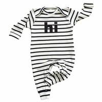 Organic Zoo Pyjama Playsuit HI breton stripe