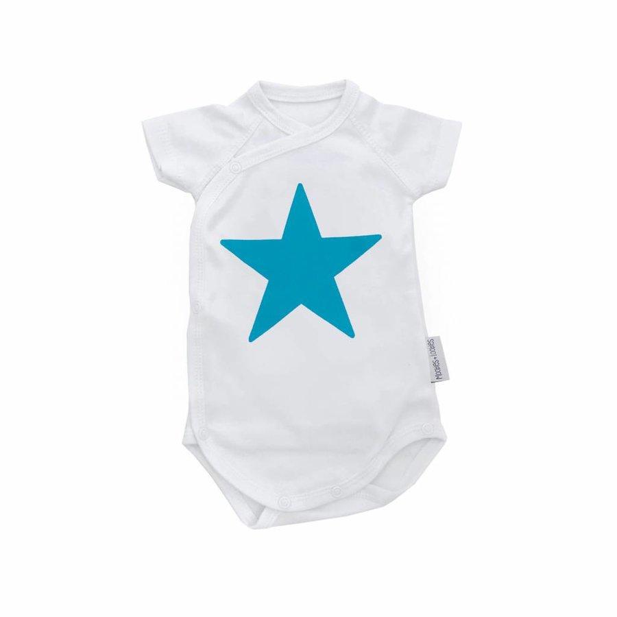 Blue Star Romper Korte Mouwen-1