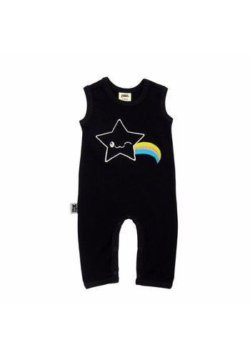 Zwarte Kawaii Star Bodysuit