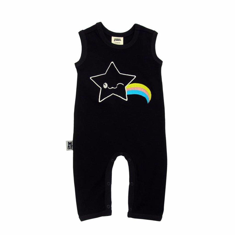 Zwarte Kawaii Star Mouwloze Bodysuit-1