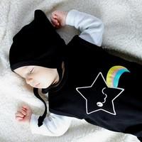 thumb-Zwarte Kawaii Star Mouwloze Bodysuit-3