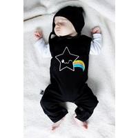 thumb-Zwarte Kawaii Star Mouwloze Bodysuit-2
