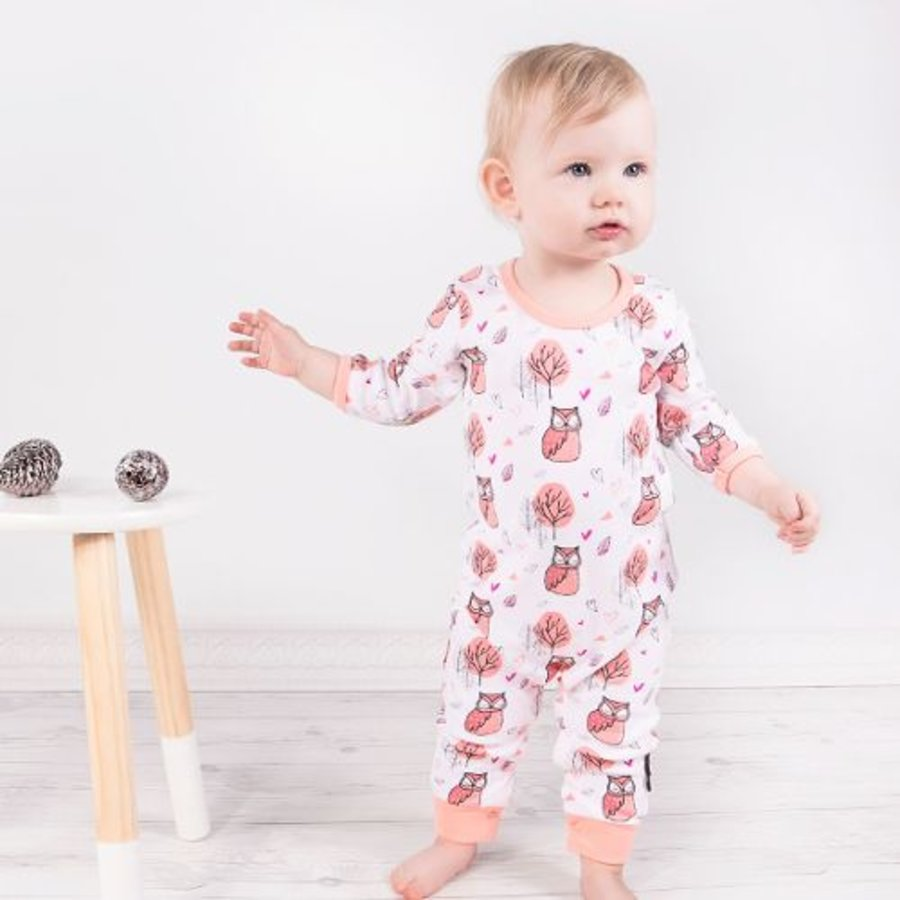 Aster & Oak Playsuit Woodland Owl-2