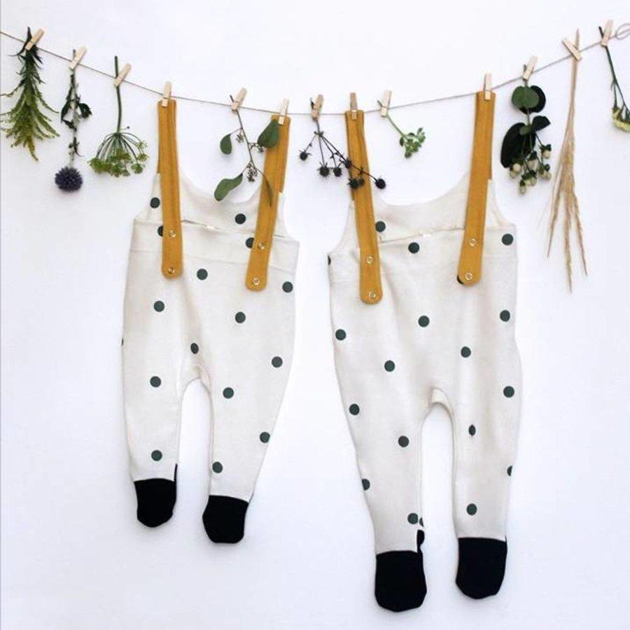 Organic Zoo Pyjama Salopette Bolletjes met blauwe voetjes