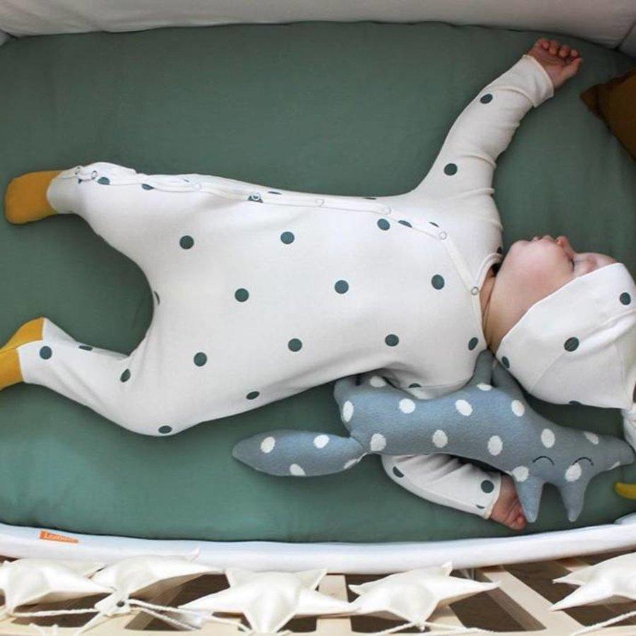 Organic Zoo Pyjama Playsuit Bolletjes met gele voetjes