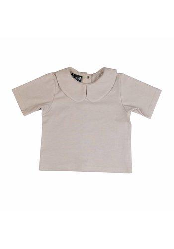 Collar T-shirt Zandkleur