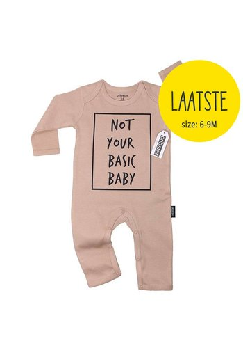 Playsuit Not Your Basic Baby - coffee