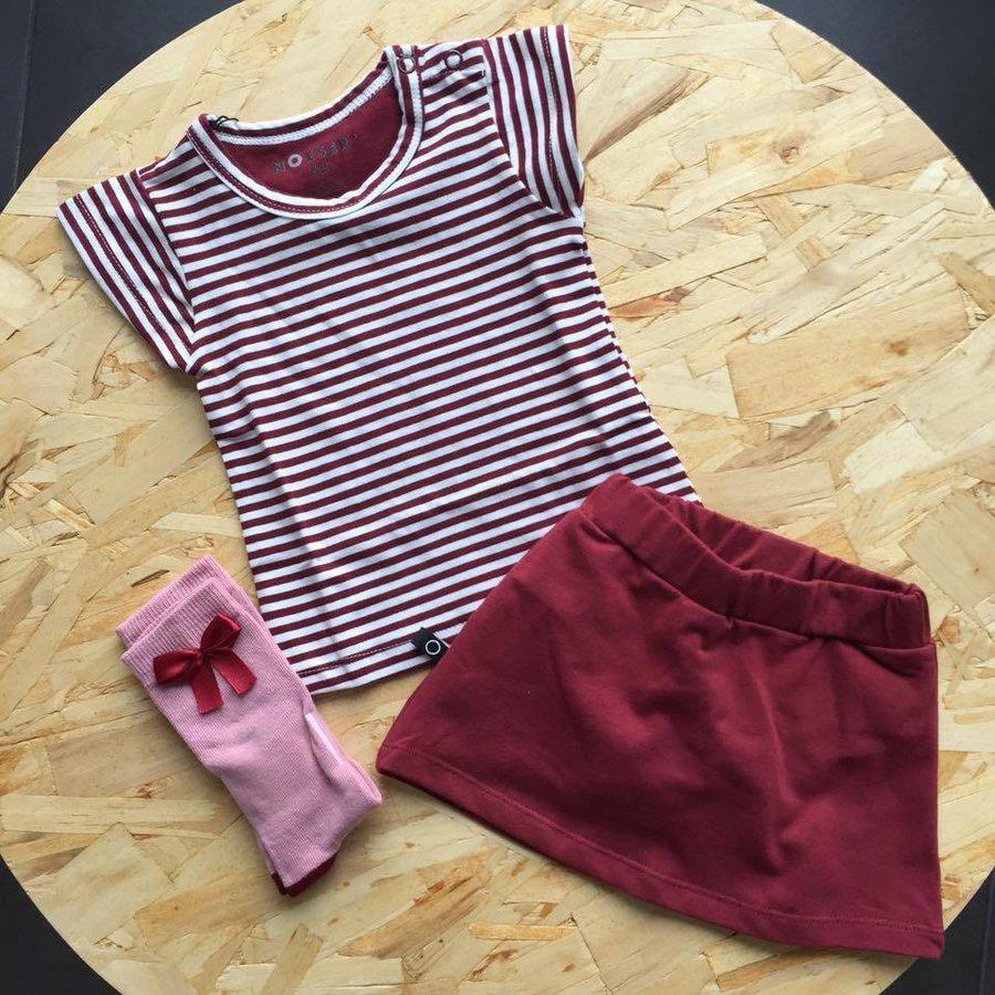 nOeser Ted T-shirt Frill Strepen Rood-4