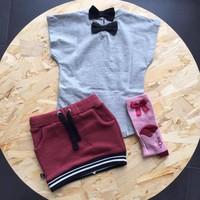 thumb-nOeser Sokken met Strik Roze-2