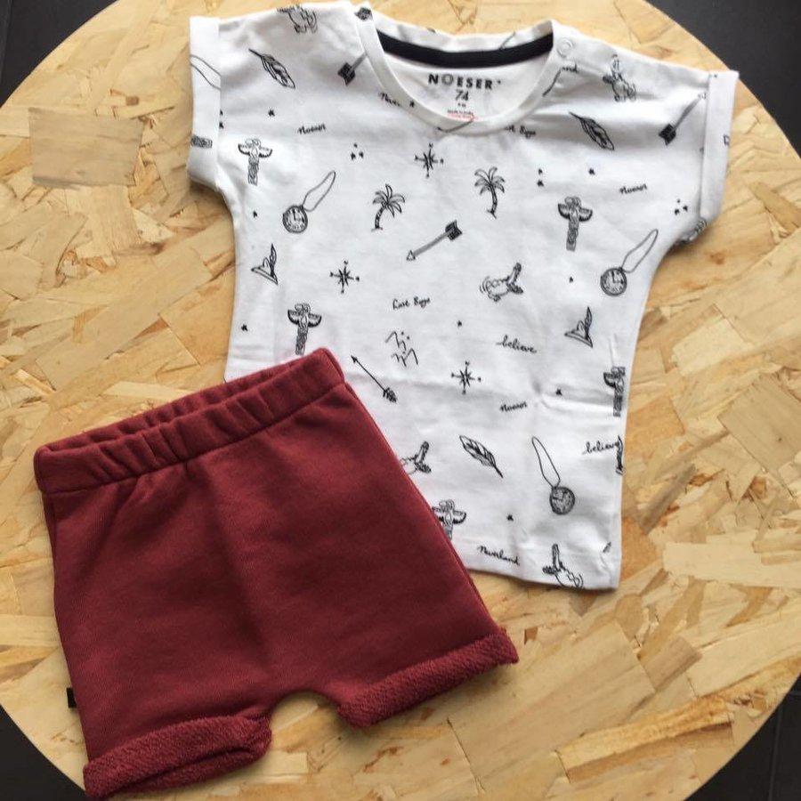 nOeser Tom T-shirt Symbolen Wit-3