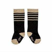 thumb-nOeser Sokken met Strepen Zwart-1