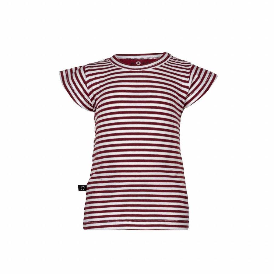 nOeser Ted T-shirt Frill Strepen Rood-1