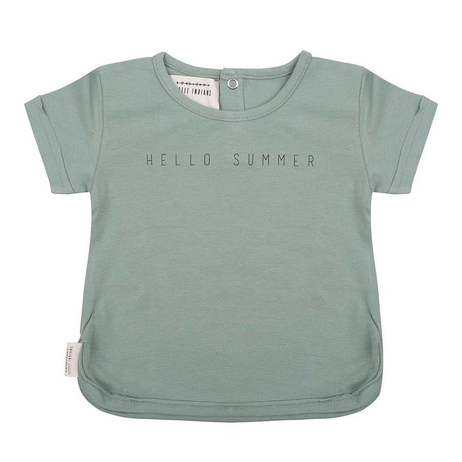 Little Indians T-shirt Hello Summer Groen-1