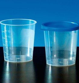 Medische Vakhandel Urinebeker met blauwe deksel 100 stuks