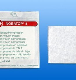 Noba Nobatop non woven kompres 8/4 2st 5x5cm steriel, 60 stuks x 2, 704205