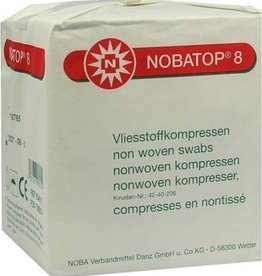 Noba Nobatop Vliesstoffkompressen 8/4, 5 x 5 cm, 100 Stück