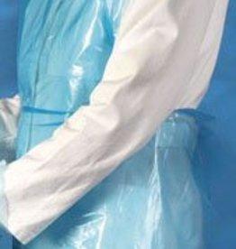 Medische Vakhandel Schorten plastic Mediware 125 cm 100 stuks blauw
