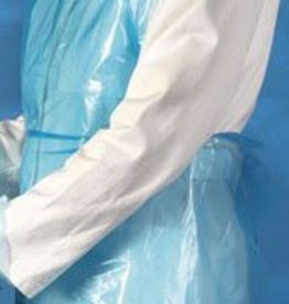 Medische Vakhandel Schorten plastic Mediware 140 cm 100 stuks blauw