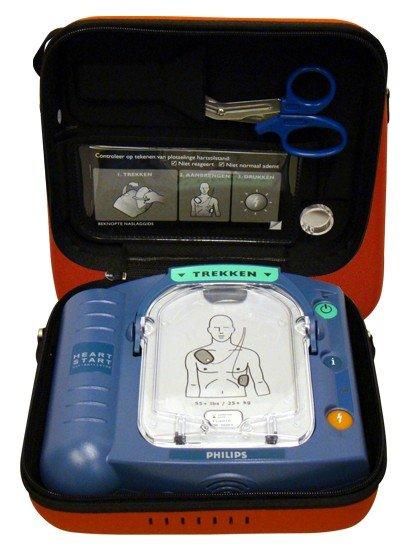Philips PHILIPS ACTIE HEARTSTART HS-1 AED - MET GRATIS draagtas + interventiekit + AED stickers + wandbeugel omruilactie met Welch Allyn 50 euro korting