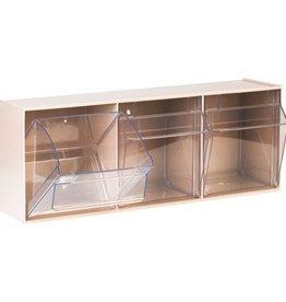 Medische Vakhandel Aufbewahrungsbox für Spritzen und Nadeln, groß, weiß, 3 Fäche